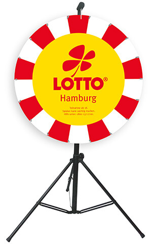 Glücksrad Double Medium 90/64 cm - Lotto Hamburg